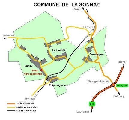 Carte de LaSonnaz